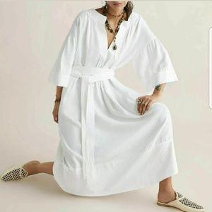 Zara Limited Edition White Oversized Maxi Dress  M